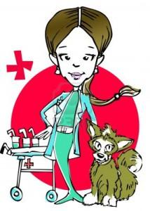 Женщина-ветеринар